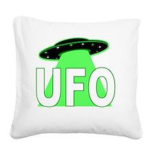 ufo Square Canvas Pillow
