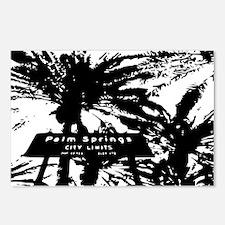 BlacknWhite Palm Springs  Postcards (Package of 8)