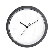 Live, Love, Cache (dark) Wall Clock