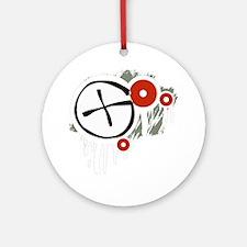Geocaching Vector (dark) Round Ornament