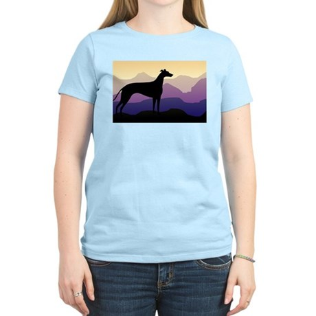 greyhound dog purple mountains Kids T-Shirt