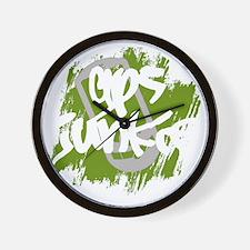 GPS Junkie (dark) Wall Clock