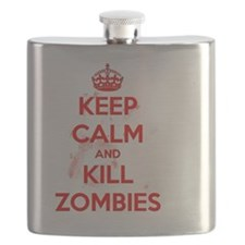 Keep Calm and Kill Zombies Flask