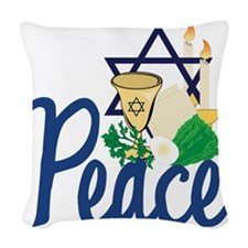 Peace Woven Throw Pillow