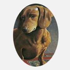 Dauschound Dog Doxie Weiner Dog  Oval Ornament