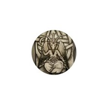 Baphomet Mini Button