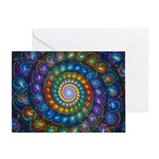 Spherial Shell Beads Blanket Greeting Card