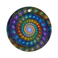 Spherial Shell Beads Blanket Round Ornament