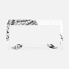 Offroad word cloud License Plate Holder