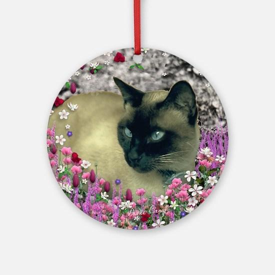 Stella in Flowers I Round Ornament