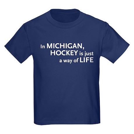 Michigan Hockey State Kids Dark T-Shirt