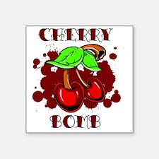 "CHERRY BOMB 4 Square Sticker 3"" x 3"""