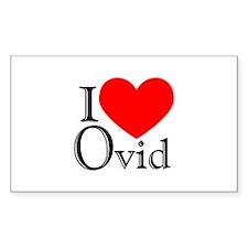 I Love Ovid Rectangle Decal