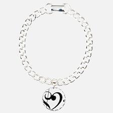 Treble Heart Charm Bracelet, One Charm