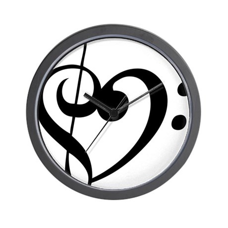 Treble Heart Wall Clock