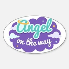 Angel On The Way Pregnancy Decal