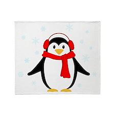 Winter Penguin Throw Blanket