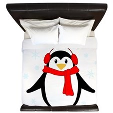 Winter Penguin King Duvet
