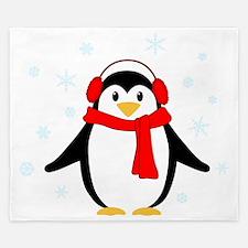 Winter Penguin King Duvet