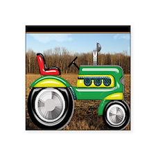 "Teriffic Tractor in the Fie Square Sticker 3"" x 3"""