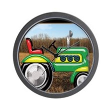 Teriffic Tractor in the Field Wall Clock