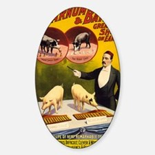barnum and bailey Sticker (Oval)