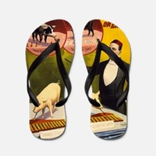 barnum and bailey Flip Flops