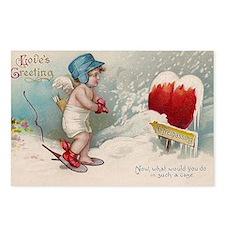 Vintage Valentine image c Postcards (Package of 8)