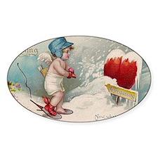 Vintage Valentine image cold Valent Decal