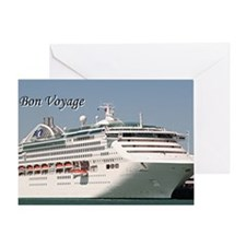 Bon Voyage: cruise ship Greeting Card