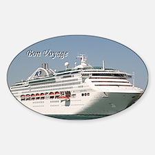 Bon Voyage: cruise ship Sticker (Oval)