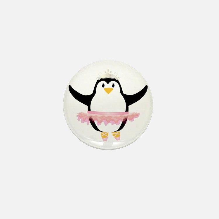 Ballerina Penguin Mini Button