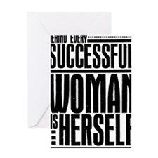 Success Black Greeting Card