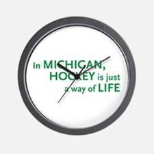 Michigan Hockey State Wall Clock