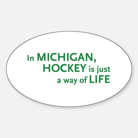 Michigan Hockey State Oval Decal