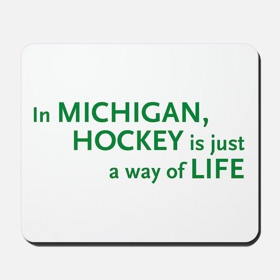 Michigan Hockey State Mousepad