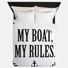 My Boat, My Rules Queen Duvet