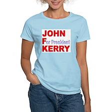 John Kerry '04 Women's Pink T-Shirt