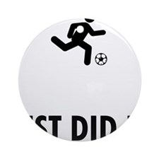 Soccer-ABP1 Round Ornament