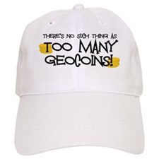 Too Many Geocoins Baseball Cap