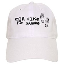Will Hike For Cache Baseball Cap