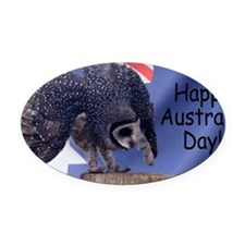 Australia Day Oval Car Magnet