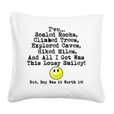 Lousy Smiley Square Canvas Pillow