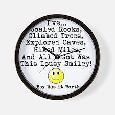 Lousy Smiley Wall Clock
