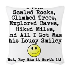Lousy Smiley Woven Throw Pillow