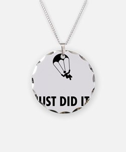 Parachuting-ABP1 Necklace Circle Charm