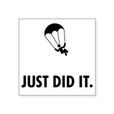 "Parachuting-ABP1 Square Sticker 3"" x 3"""