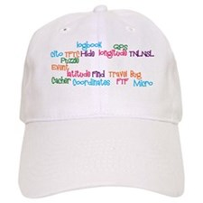 Geocaching Word Collage Baseball Cap