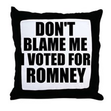 I voted Romney Throw Pillow