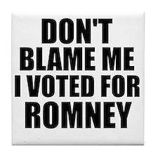 I voted Romney Tile Coaster